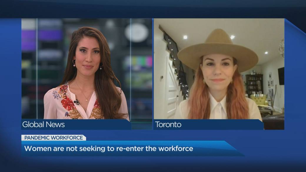 Click to play video 'Many women not seeking to re-enter the workforce, expert says'