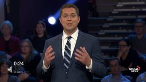 Leaders' Debate: Scheer says Trudeau wears 'masks' and can't be trusted