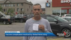 Ontario man gets 2nd COVID-19 vaccine only after showing Global News video (02:28)