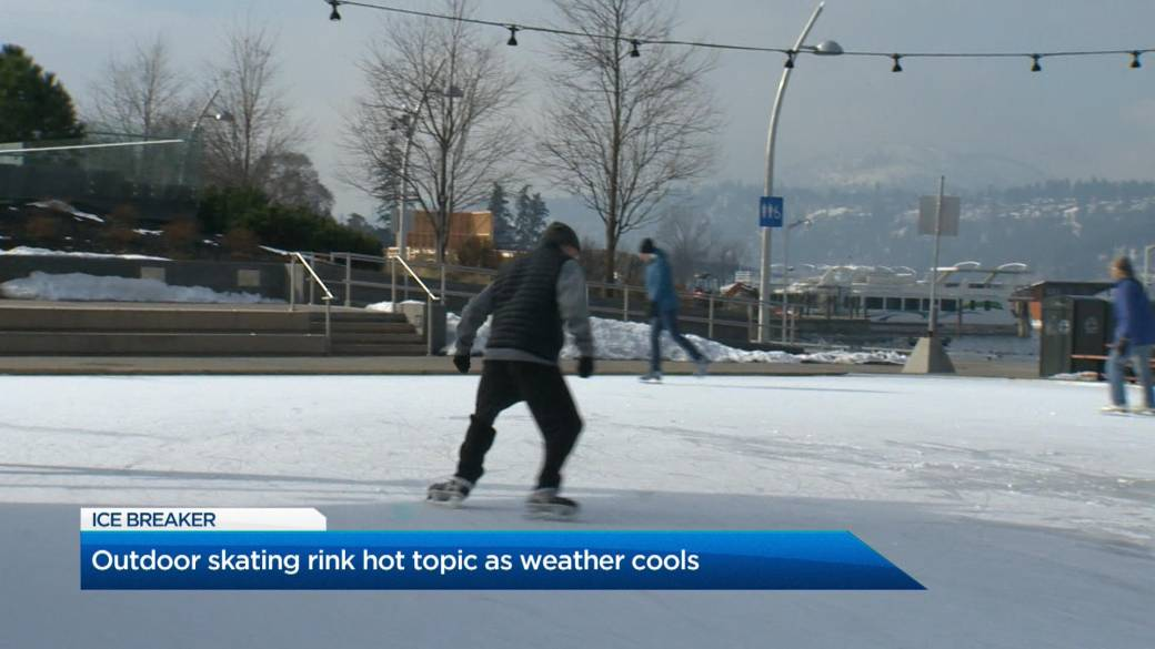 Click to play video 'Kelowna outdoor skating rink hot topic as weather cools'