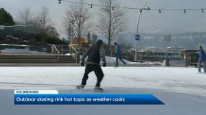Kelowna outdoor skating rink hot topic as weather cools (01:59)