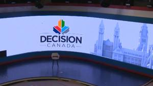 Timelapse of Global News' Decision Canada Election night set