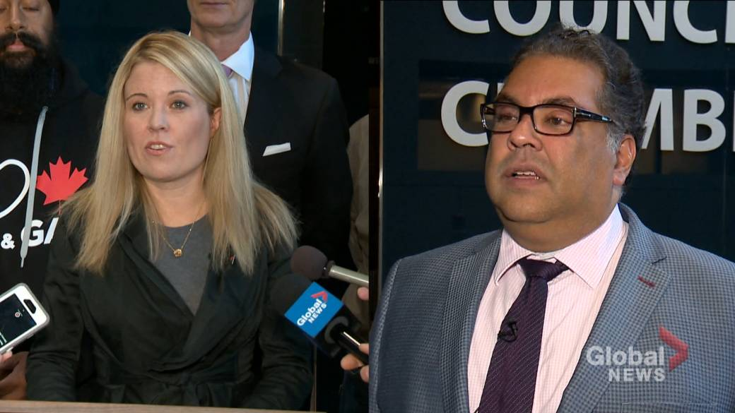 Calgary mayor exchanges tweets with Tory candidate over YYC Matters survey