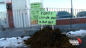 Manure dumped at Premier Doug Ford's constituency office by climate activists