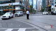 Play video: 4 pedestrians, including child, struck after multi-vehicle crash at Bay and College