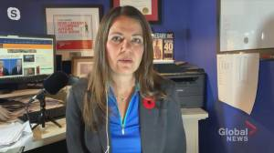 Danielle Smith weighs how Biden or Trump win would impact Alberta (03:10)