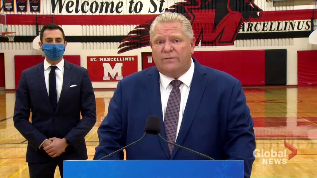 Click to play video 'Coronavirus: Ontario to provide $13.6 million to school boards in Durham, Halton, Hamilton, Waterloo regions'