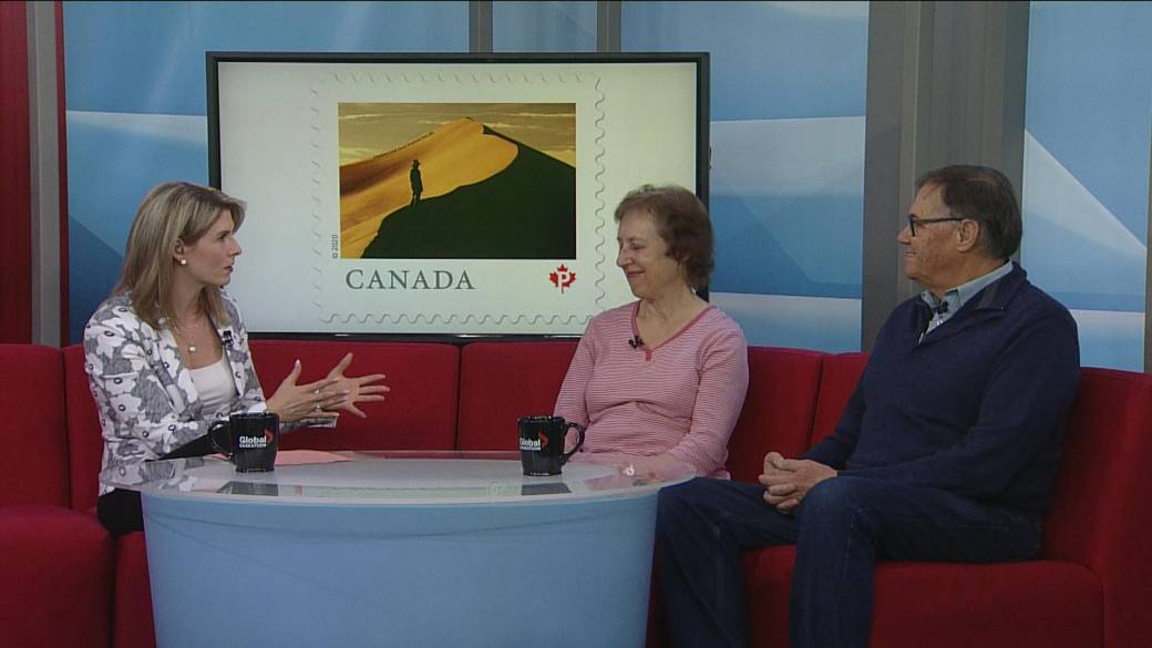 Saskatoon couple shoot iconic photo for Canada Post stamp