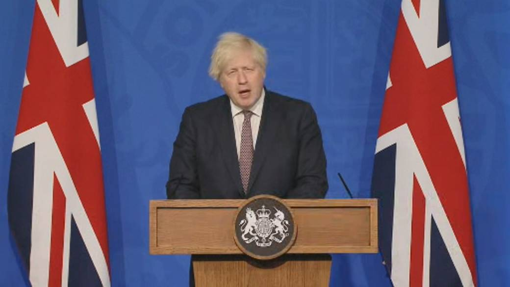 'UK's Boris Johnson lays retired  5-point program  to assistance   lockdown, including removing disguise  mandate'