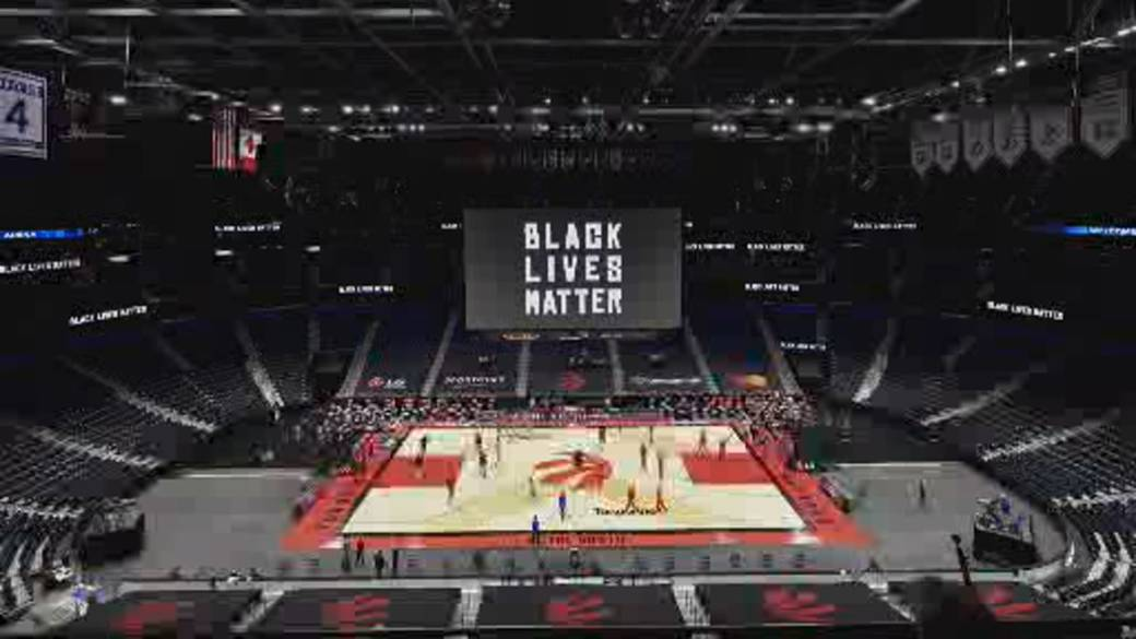 Click to play video 'Hoops away from home: Toronto Raptors temporarily move to Florida'