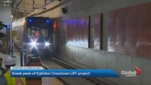 Sneak peek of Eglinton Crosstown LRT project (01:53)