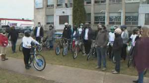 Fredericton-area tattoo artist purchases bikes for young newcomers (01:53)