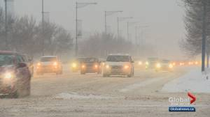 Edmontonians face snowy commute on Wednesday