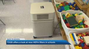 COVID-19: TDSB offers a look at new HEPA filters (02:42)