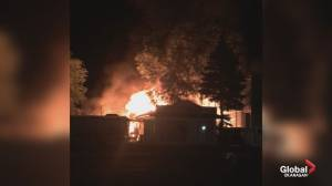 Early morning fire in Okanagan Falls impacts Highway 97