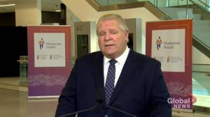 Coronavirus: Ontario to provide $125 million to add over 500 critical care beds in pandemic hot-spots (00:43)