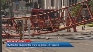 Dodging the bullet as a crane collapses in downtown Toronto