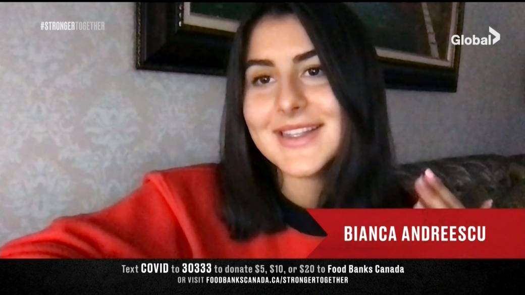 Click to play video: 'Stronger Together:  Athletes from Bianca Andreescu to Connor McDavid to Georges St-Pierre ask everyone to stay home and stay healthy'