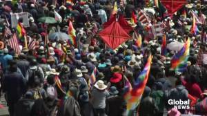 Bolivia funeral procession turns violent as marchers clash with security forces