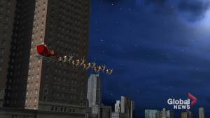 Norad tracks Santa: Claus flies over Chicago (00:45)
