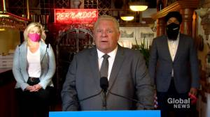 Coronavirus: Ontario Premier Ford says $300 million will be provided to assist businesses hit hard by COVID-19 restrictions (00:48)