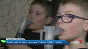 Parents of boys with Cystic Fibrosis take their plea for medication to Ontario Ministry of Health