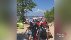 Growing concerns about overcrowding at Ontario beaches