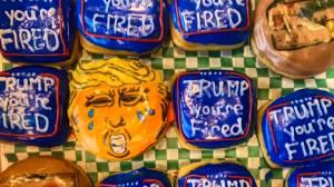 Halifax doughnut shop auctions 'Trump doughnuts' (00:40)