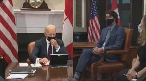 Trudeau and Biden hold first bilateral meeting virtually (03:20)
