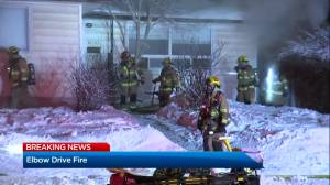 Calgary firefighters battle house fire in Southwood (01:53)