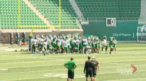 Saskatchewan Roughriders: Isaac Harker is a student of the game (01:41)