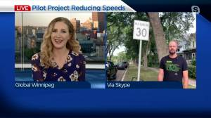 City pilot project reducing speeds (03:17)
