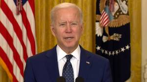 Biden discusses phone call with Putin following new sanctions on Russia (03:22)