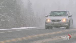 Blast of wintery and wet weather in N.B causing challenging driving conditions