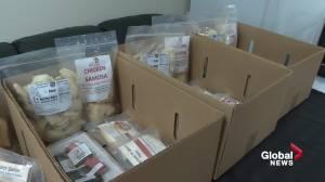 Edmonton businesses launch 'YEG Survival Kit,' delivers local food to your door (01:40)