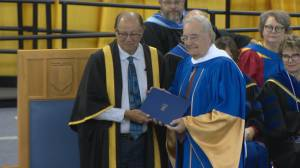 University of Lethbridge presents former prime minister with honorary degree