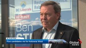 Race for Kelowna West riding heats up as election date nears (03:09)