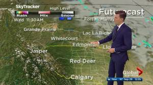 Edmonton afternoon weather forecast: Tuesday, September 29, 2020