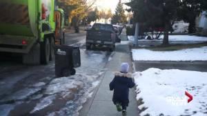 Unique friendship stems from Edmonton boy's love for garbage trucks (02:14)