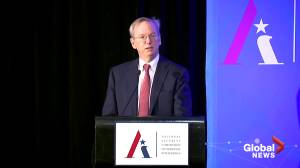 Former Google CEO says U.S. government 'needs our help' on artificial intelligence (01:45)