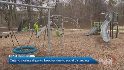 Ontario extends outdoor recreational amenities ban by 2 weeks as COVID-19 spread continues | Watch News Videos Online