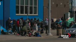 Edmonton approves $8.1M to transition homeless population out of temporary shelters (01:46)