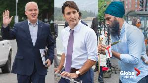 Canada election: Trudeau has strongest leadership numbers in Ipsos poll (02:21)