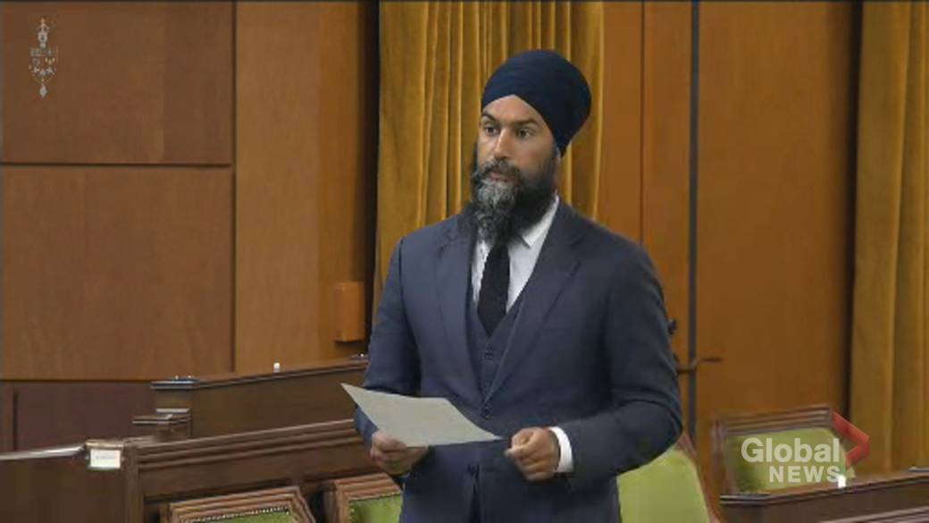 Click to play video 'Jagmeet Singh demands Liberals take action on systemic racism amid death of Indigenous woman'