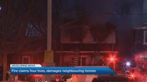 House fire in east-end Toronto kills 4 people (02:12)