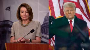 U.S. Capitol riot: Democrats discuss articles of impeachment against Trump over Jan. 6th violence (01:38)