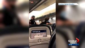 Dispute over masks leads to cancellation of WestJet flight from Calgary to Toronto (01:52)