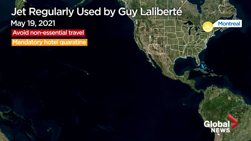 Click to play video: 'Jet Regularly Used by Guy Laliberté'