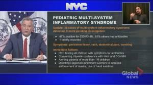 Coronavirus outbreak: 39 cases of rare pediatric syndrome linked to coronavirus in New York City (03:09)