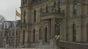 N.B. going through shutdown in its legislature (01:44)